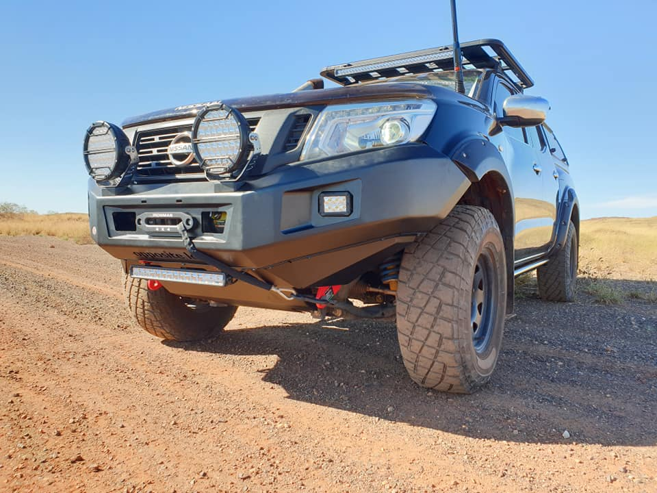Rhino Roof Rack, Ironman 4x4 Monster Winch, Recovery Points, GMFabrications Bonnet Aerial Mount, GME Aerial
